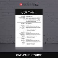 One Page Resume Format Resume Template For Word Theme