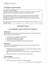 investigation report template disciplinary hearing hr investigations hr inform