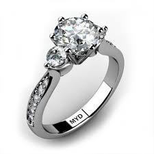 unique stone rings images Sydney unique round diamond three stone ring jpg