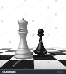 cool vector 3d white black chessmen stock vector 109675382