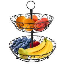 fruit basket stand 2 tier countertop fruit basket holder decorative bowl stand sorbus