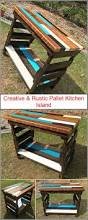 Pallet Kitchen Island Creative U0026 Rustic Pallet Kitchen Island Wood Pallet Furniture