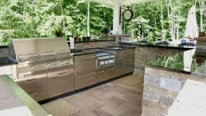 Outdoor Stainless Steel Kitchen - cool small outdoor kitchen equipment brick kitchen island black