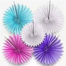 decorative crafts 25cm 1pcs flower origami paper fan wedding