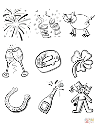new year u0027s eve coloring page free printable coloring pages
