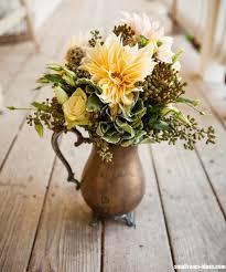 Copper Flower Vase Simple Small Room Flower Decoration Ideas
