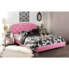 Canterbury Bedroom Furniture by Baxton Studio Canterbury Contemporary Pink Faux Leather Queen
