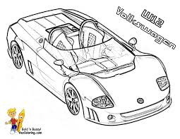 volkswagen w12 race car coloring pages coloring