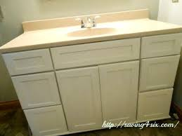 Paint Bathroom Cabinets Bathroom Vanity Makeover With Annie Sloan Chalkpaint