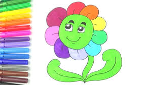flower drawing with coloring flower coloring pages for kids to