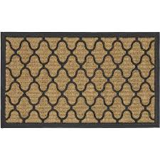 Outdoor Coir Doormats Mainstays Fret Rubber Coir Doormat Walmart Com