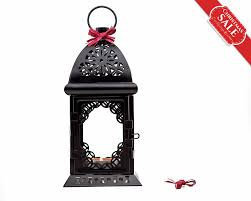 black and white wedding candle lantern centerpiece morrocan