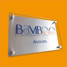 creativ sign office signs plaques acrilic glas brushed aluminum