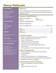 Call Center Resume Sample Without Experience by 13 Student Resume Examples High And College