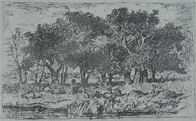 a sketch of the now lost painting