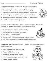 thanksgiving worksheets part speech thanksgiving blessings