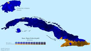 Map Cuba Racial Map Of Cuba 2012 Cuban Census Oc 1272 X 711 Mapporn