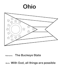 image gallery ohio flag coloring page