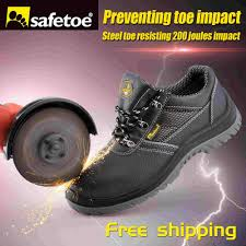 safetoe safety work shoes men steel toe cap water resistant spring