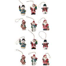 resin ornaments figures asst 1 inch
