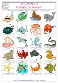 sea animals free esl efl worksheets made by teachers for teachers