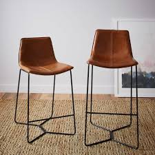 uk bar stools slope leather bar stool west elm uk