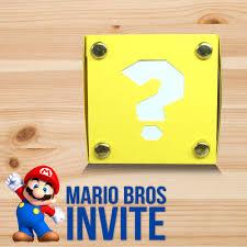 mario invitations super mario bros exploding box invitation u2013 custom design by
