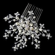 bridal hair combs ivory pearl flower bridal hair comb comb 8440
