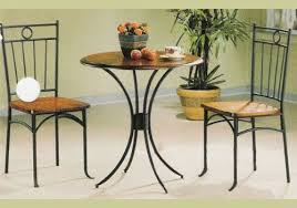little tea table set coaster 5939 metal and wood 3 piece bistro table chair set coaster