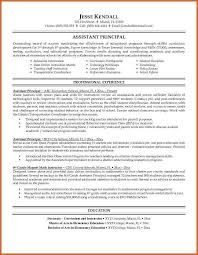 Elementary Teacher Resume Template Examples Of Resume For Teachers Entry Level Assistant Principal