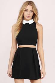 cut out dress black white dress black dress pleated dress skater dress
