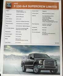 Ford F150 Truck Specs - 2016 ford f150 limited specs the fast lane truck