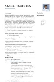 Resume Format For Mechanical Trainee Engineer Resume Samples Visualcv Resume Samples Database