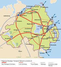 Northern Ireland Map Northern Ireland Road Construction Programme U2013 The Past Ten Years