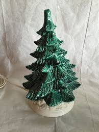 vintage ceramic tree with white base no lights sold