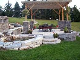 Backyard Paver Patios Backyard Stones Patio Backyard Step Patio With Grass Lounge