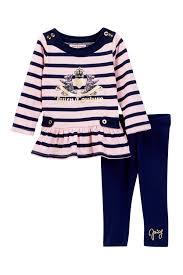 juicy couture striped scottie dog logo tunic u0026 legging set baby