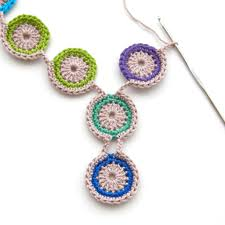free necklace pattern images Free crochet pattern peacock eye necklace thecuriocraftsroom jpg
