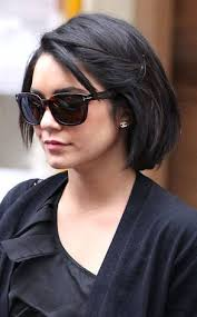 parisian bob hairstyle ooh la la vanessa hudgens debuts sleek new bob haircut in paris