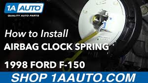 ford f150 airbag light replacement how to install replace airbag clock spring 1997 98 ford f 150 youtube