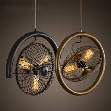 popular country ceiling fans buy cheap country ceiling fans lots hot sale american country vintage industrial edison round fan iron loft ceiling chandelier lamp droplight for
