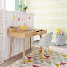 bureau enfant maison du monde grey patterned vintage chair with birch legs maison du monde