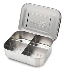 amazon com lunchbots quad stainless steel food container four