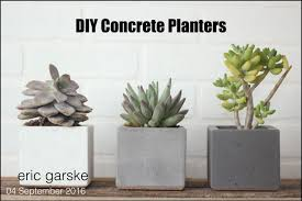 How To Make Homemade Concrete by Diy Concrete Planter Simple And Easy Eric Garske Youtube