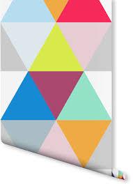 colorful geometric triangles wallpaper milexa