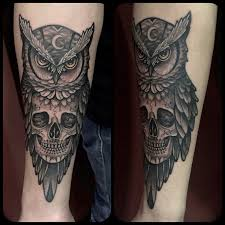 collection of 25 owl skull on arm
