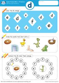 lowercase letter d alphabet worksheet from super simple learning