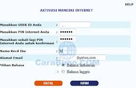 email mandiri daftar dan aktivasi mandiri internet banking