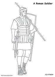 coloring roman soldier education roman