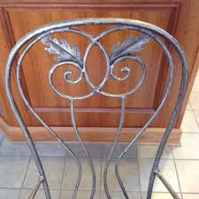 drexel heritage u0027signet u0027 wrought iron dining table and 5 chairs
